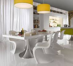 Modern Dining Room In Stylish And Artistic Design Amaza Design - Modern white dining room sets