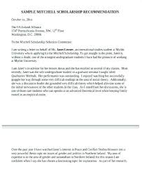 Recommendation Letter Template Scholarship High School For