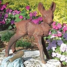 baby deer fawn brown metal outdoor