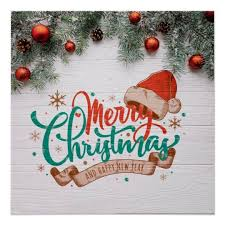 Merry Christmas And Happy New Year Poster Zazzle Com Merry Christmas Quotes Merry Christmas Vector Merry Christmas Wishes