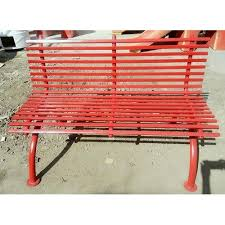 red ms pipe garden bench