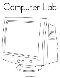 Color the pictures online or print them to color them with your paints or crayons. Computer Lab Coloring Page Twisty Noodle