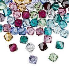 Bicone Bead Size Chart Bead Swarovski Crystals Birthstone 6mm Xilion Bicone