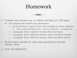ancient overview ppt  homework compare and contrast essay on athens and sparta 1 2 full pages