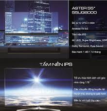 ⭐(Tra gop 0% lai suât) Smart Voice Tivi 4K Casper 55 inch Kết nối Internet  Wifi MODEL 55UG6000 / 55UG6100 (UHD 4K Android 9.0 Điều khiển giọng nói  Bluetooth truyền hình KTS