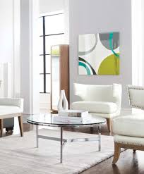 flato glass round coffee table