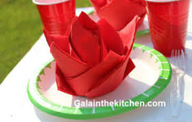 Paper Napkin Folding Flower How To Fold Paper Napkin Fancy Way 6 Techniques