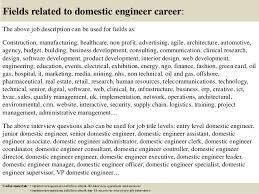 ... 17. Fields related to domestic engineer ...