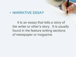 what are the different kinds of narrative essay list of narrative forms
