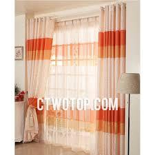 Orange Patterned Curtains