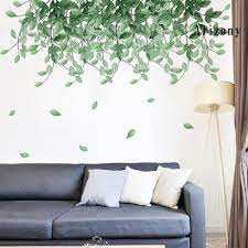 AY 2Pcs Leaf Wall Stickers Removable ...
