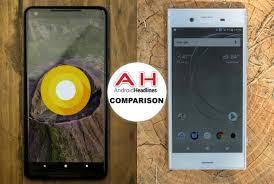 Sony Xperia Comparison Chart Phone Comparisons Google Pixel 2 Xl Vs Sony Xperia Xz1