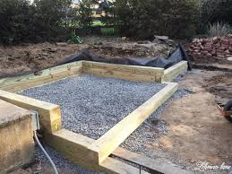 building a wood retaining wall