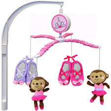 Amazon.com : Child of Mine by Carter's Ballerina Monkey Musical Crib Mobile  : Baby