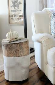 stump nightstand tree side table trunk section whitehow to make coffee white paint on half glass