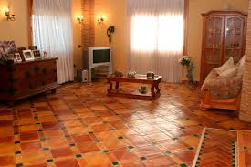 indoor tile floor terracotta matte