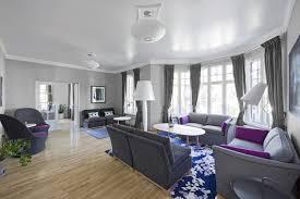 grey purple dining room