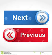 Next and Previous Buttons stock vector. Illustration of navigation ...