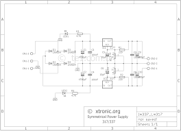 Power Supply Design Using Lm317 Adjustable Symmetrical Power Supply With Lm317 And Lm337