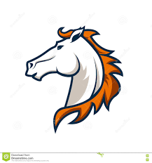 template horse logo template with horse head sport team logo stock vector