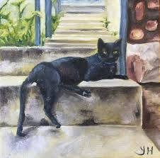 there s a cat on my stoep oil painting oil paintings of cats