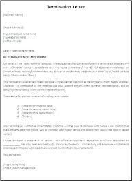 Letter Of Termination Template Termination Of Employment Letter ...