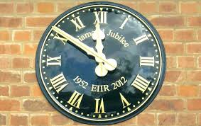 large outdoor clocks waterproof patio wall extra full image for compact clock home best