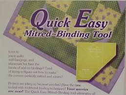 Quick Easy Mitered BINDING Tool &  Adamdwight.com