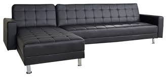 convertible sectional sofa bed. Modren Bed District Convertible Sectional Sofa Bed Black On Bed A
