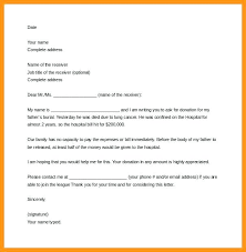 Sample Donation Letter Format Request For Blood Camp