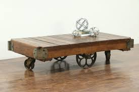full size of industrial trolley coffee table sold salvage vintage cart or iron wheels credenza sideboard