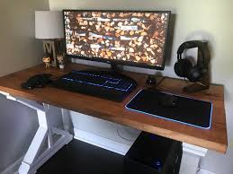 huge shoutout to razer for sending me the goliathus chroma mouse mat to complete my setup update homemade wooden desk