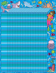 Swimming Progress Chart Amazon Com Scholastic Ocean Adventure Incentive Chart