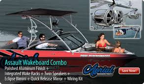 wakeboard tower package assault tower polished aluminum finish wakeboard tower package assault tower polished aluminum finish integrated navigation led light integrated wake racks twin bullet speakers