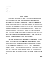 evolution essay anthropology grade  amanda iliadis ms ryan hsp3m1 feb 25th 2013 human evolution human evolution has been argued