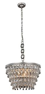 nordic collection chandelier d 19 h 12 lt 5 antique silver
