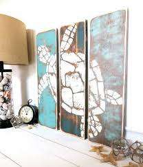 Meet Me Bye The Sea Vintage Honu Summer teal, cottage teal, catalina teal,  beach hut beige, and beach wood stain washed by the Sea Plank