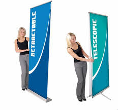 Retractable Display Stands Orbus Retractable Banner Stands will add visual impact to your 76