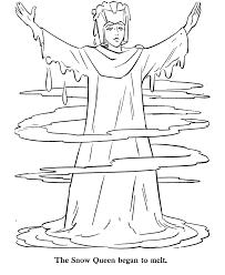Simple kings and queens coloring page for children. The Snow Queen Melts Coloring Page