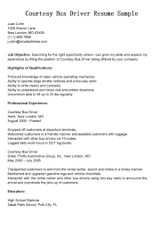 Attractive Bus Driver Resume Sample And Work Experience Expozzer