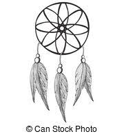 Dream Catcher Outline Dreamcatcher vector illustration with owl feathers Dream 49