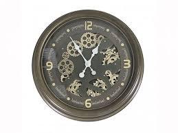 accessories coffee brown gears wall clock