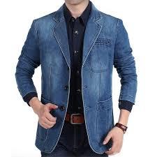 Plus Size M <b>4XL</b> 2019 <b>Autumn</b> Winter Jeans Blazer <b>Men's</b> Cotton ...