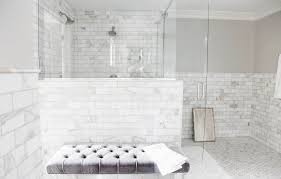 Floor And Decor Subway Tile Interior Fabulous Glass Stall Bathroom Design With Marble Subway 9