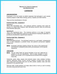 Carpenter Resume Sample Resume Template