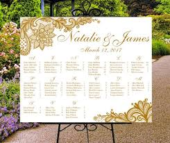 Digital Seating Chart Wedding Wedding Seating Chart Printable Gold Or Custom Color Wedding