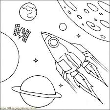 Satellite Spaceship Coloring Page Download Print Online Coloring