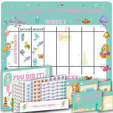 Potty Training Chart For Girls Potty Training Chart For Girls Cute Mermaid And Sea Theme