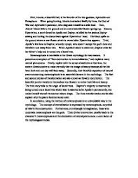 essay greek myth  greek gods essays and papers 123helpme com