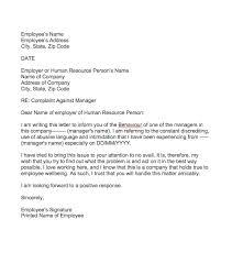 Letter Of Complaints Sample Complaint Letter About Manager Behaviour Top Form Templates Free